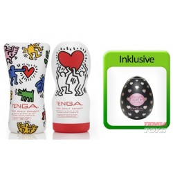 Tenga Keith Haring Value Pack (2 Cups + Egg Lovers)