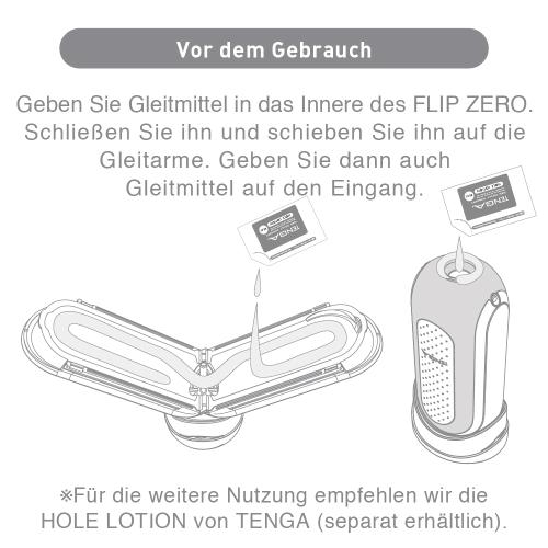 Vor dem Gebrauch des Tenga Flip Zero