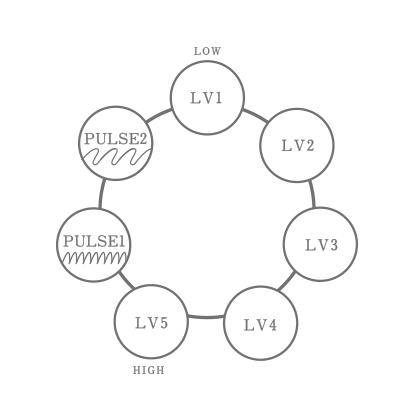 Die Vibrationsintervalle der Iroha Plus Vibratoren
