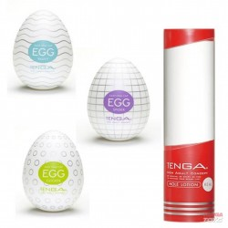 Tenga Egg Value Pack 1 (3 Eggs + Hole Lotion Real)