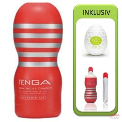 Tenga Deep Throat Cup Value Pack (Cup + Hole Warmer + Egg Clicker)