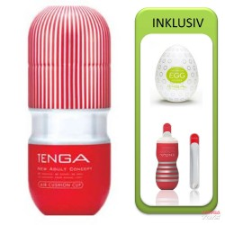 Tenga Air Cushion Cup Value Pack (Cup + Hole Warmer + Egg Clicker)
