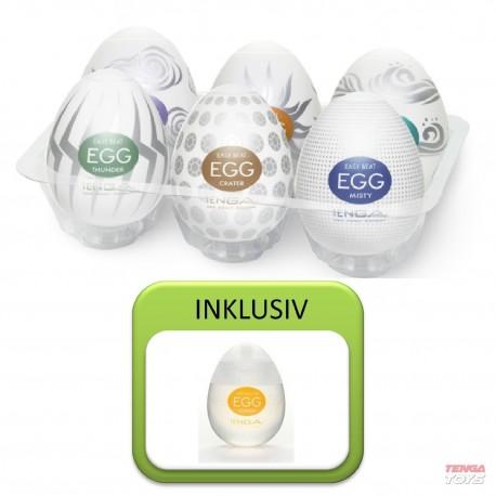 Tenga Egg Variety Value Pack 2 (6 Eggs + Egg Lotion)