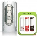Tenga Flip Hole White Value Pack 4 (Flip Hole + 3x Hole Lotion)